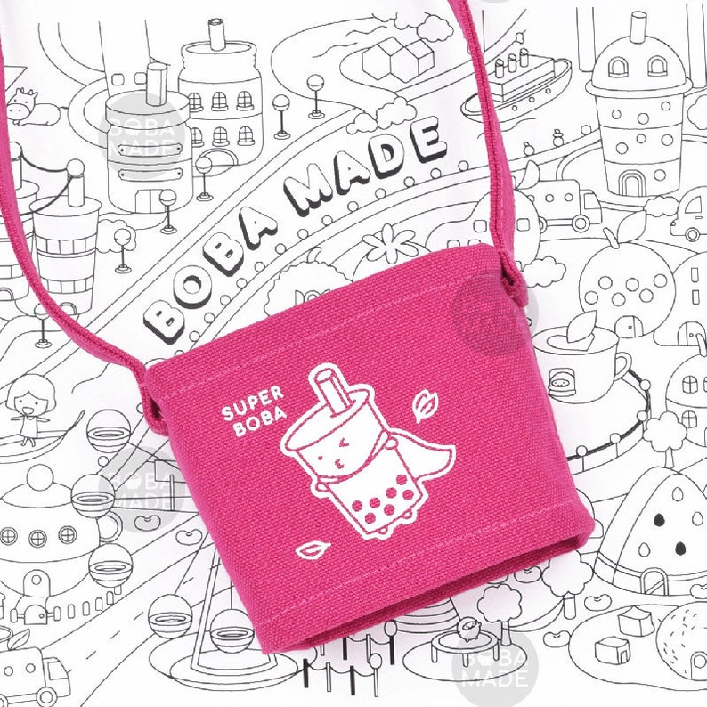 Bubble tea gift | boba tea bag | drink holder | coffee cozies | tea cozies  | bubble tea lover | beverage carrier | cup holder | boba made
