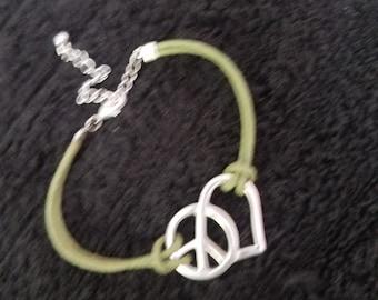Peace and love bracelet