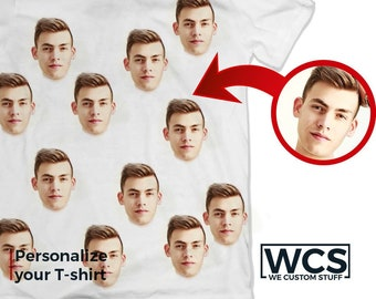 Funny Faces Custom Shirt, Personalized Funny T-shirt, Custom Photo Face Shirt, Your Face on Custom Shirt, Personalized Shirt, Funny Gift Tee