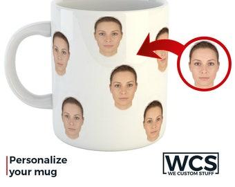 Custom Coffee Mugs with Photo, Personalized Mugs, Face Mug, Design Your Mug, Create Your Cup, Funny Mugs, Custom Gift Idea Personalized Gift
