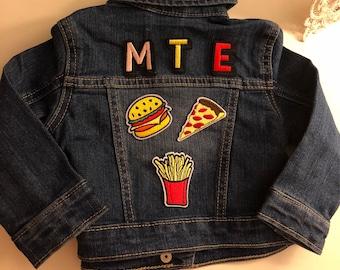CUSTOM EMBELLISHED DENIM toddler boy's jacket (monogram)