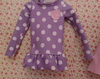 sweet purple dress for MSD BJD doll