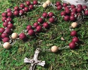 Floral Keepsake Chain Rosary