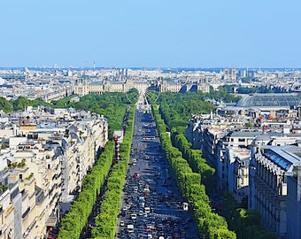 Paris and the Champs Elysees
