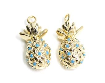 Cubic Horseshoe Pendant  Charm  Wedding  Jewelry Making  Gold Plated Brass  1 piece  ejp03
