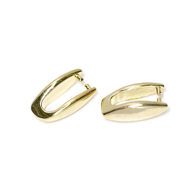Simple A Shape Brass Bail  Basic Supplies  Jewelry Making  Gold Plated Brass  2pcs  bpc0003