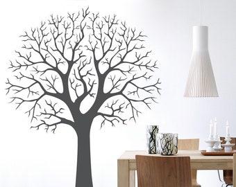 37c169e8e0 Perfect Winter Tree - Family Tree Photo Wall Decal - Tree Wall Decal -  Living Room Wall Decor