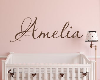ecd1c8fef114 Personalized Name Monogram Wall Sticker - Custom Name Wall Decal - Kids Name  Wall Decal - Nursery Wall Decor - Removable Vinyl Name Decal