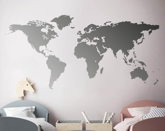Map wall decal | Etsy
