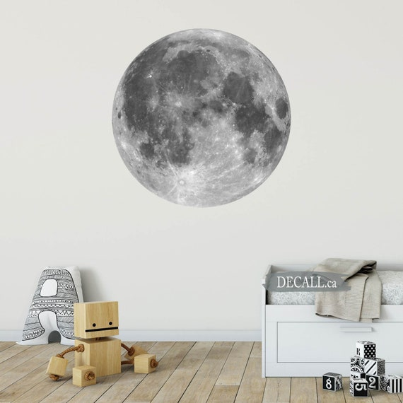 Full Moon Wall Sticker Moon Phase Wall Decal Planets Space Home Decor