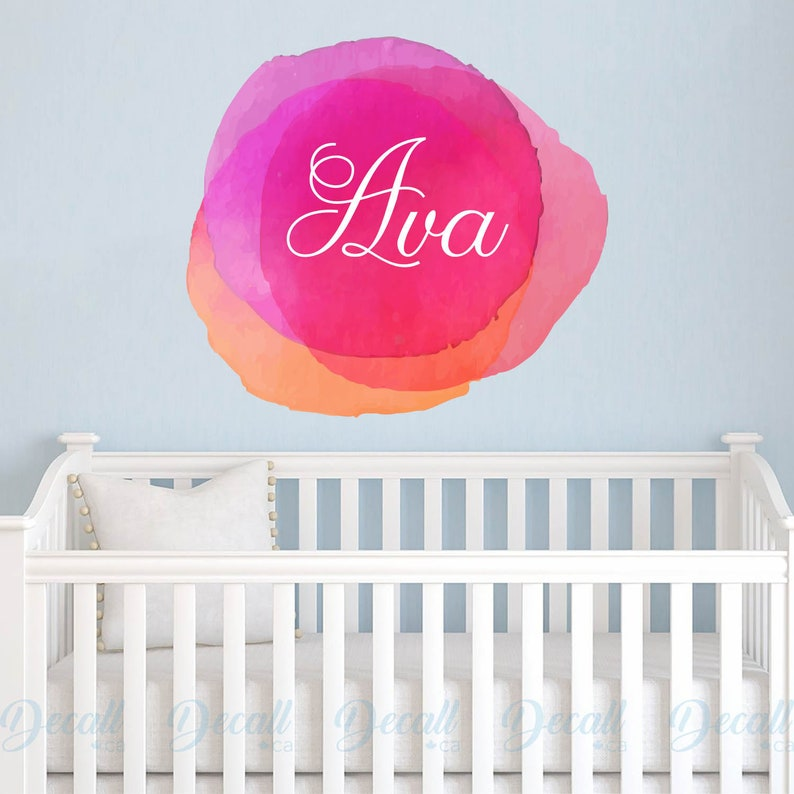 c9f5de7a03727 Personalized Name Monogram Wall Sticker - Custom Name Wall Decal - Kids  Name Wall Decal - Nursery Wall Decor - Reusable Fabric Name Decal
