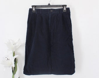 6507eab32d Vintage Eddie Bauer Navy Corduroy Skirt