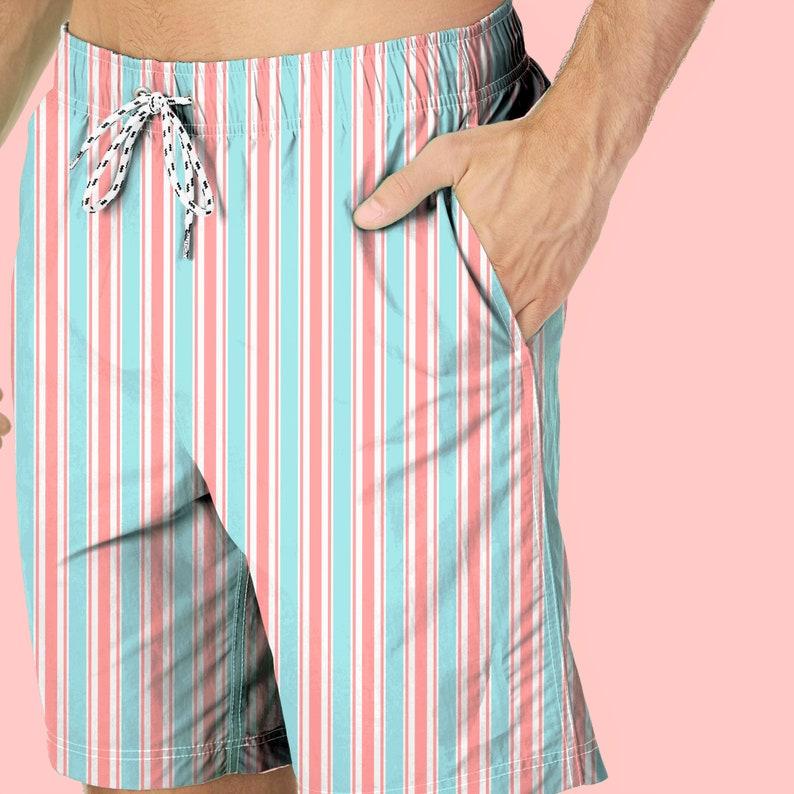 6edecf1fb0 Red Stripes Shorts Men's Boardshorts Men's | Etsy