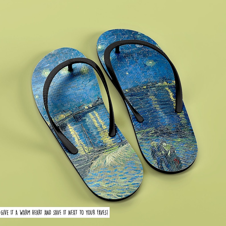 1cc59a90735 Van Custom Flip Flop Starry Night Shoes Van Custom Sandals