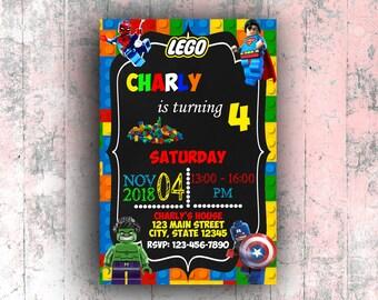 Lego invitation etsy lego birthday invitations lego party invitations lego invite lego invitation lego boy invitation lego birthday lego party invitation stopboris Gallery