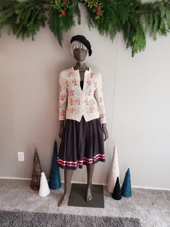 Gorgeous 50s hand knit cardigan
