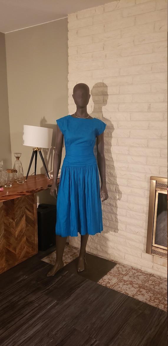 Vintage Blue Summer Dress
