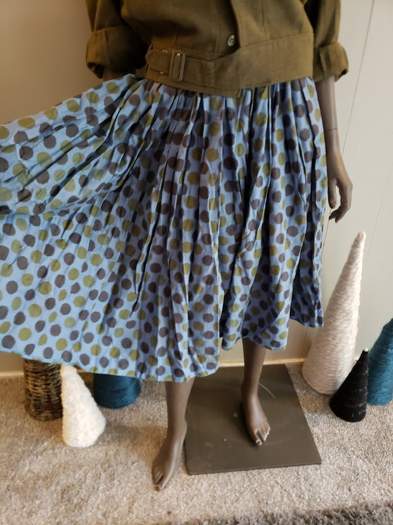 50s novelty print circle skirt - image 2