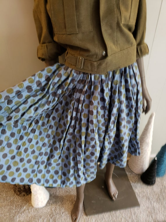 50s novelty print circle skirt - image 3