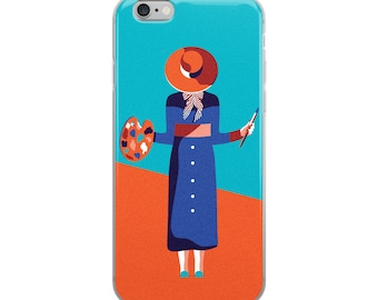 Retro Woman Cute iPhone Case - - iphone 6 plus / 6s plus, iphone 6,6s, iphone 7 plus, 8 plus, iphone 7 ,8 , iphone X case