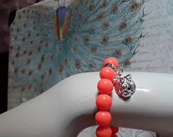 Clemson Tiger stretchy bracelet!