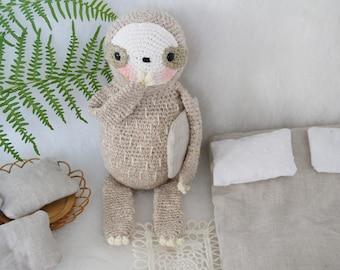 Gontrand Junior, le petit paresseux - little sloth crochet pattern english/french - amigurumi pattern