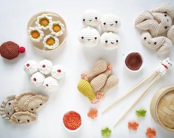 Patron de crochet - La dînette asiatique au crochet - amigurumi