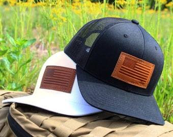 Leather Patched Trucker Hat c78469d5a963