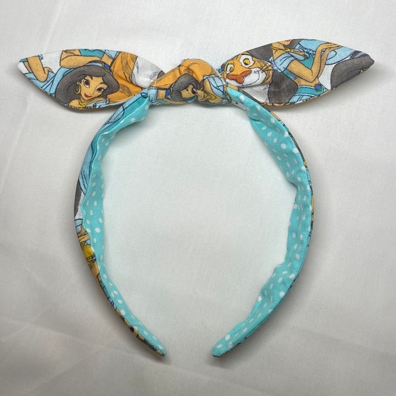 Aladdin top knot headband Jasmine top knot headband