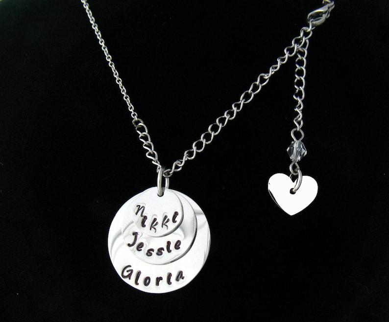 CD3 My Lovie/'s TRIPLE Hand Forged Round Necklace
