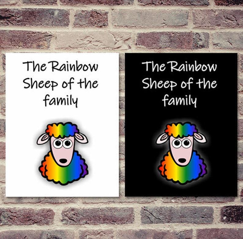 Instant download, Rainbow Sheep Wall Decor, LGBT Pride, Wall Art, Sheep,  Gift, Rainbow Print, Home decor, Quotes, gay lesbian, love LGBT Art