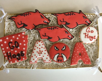 Arkansas Razorback Cookies