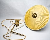 Vintage Wall Lamp, Pull Down, Tole, Counter Balance, 1960s, Bed Side