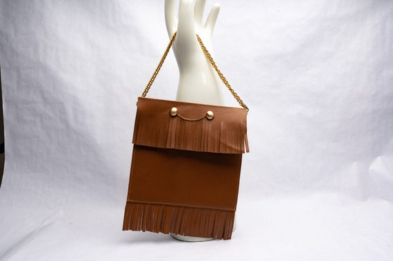 Vintage Hand Crafted Hand Bag with Fringe, Country