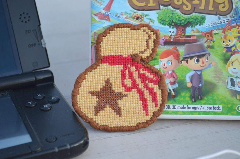 Animal Crossing Bell Bag Mini Cross Stitch Pattern | Digital Download | DIY  Pins and Patches