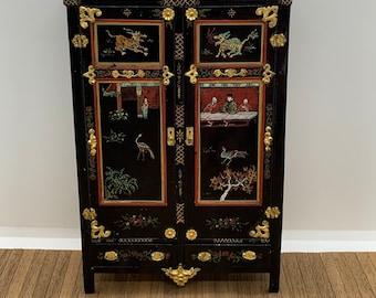 Maritza Moran hand painted cabinet, 1/12 scale