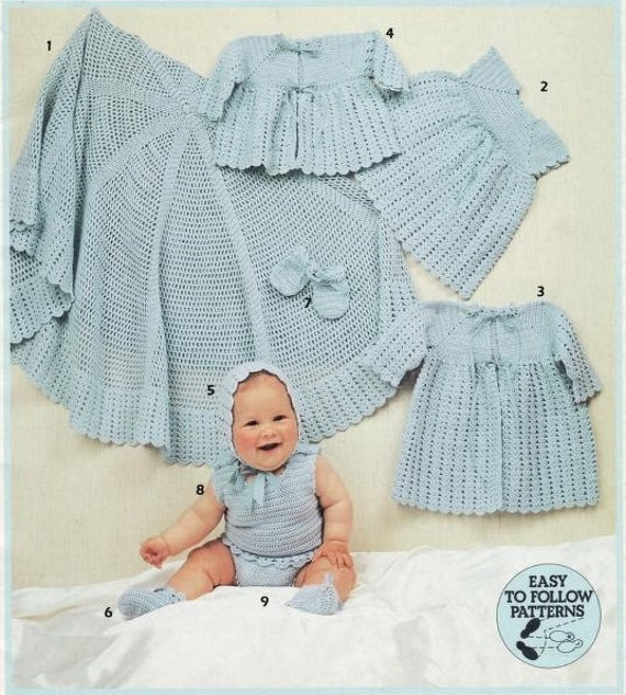 Baby Layettes Knitting Crochet Pattern Pdf Instant Download Etsy