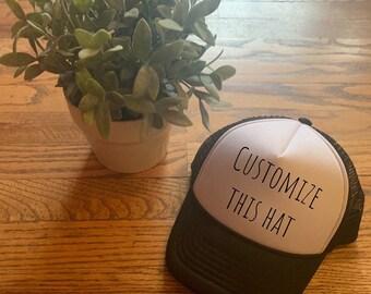 de284b5e49dbc CUSTOM TEXT - toddler Mesh Trucker Hat- Custom Headwear- Multi Color Trucker  Hats- Personalize- toddler babby Trucker Foam Hat Adjustab