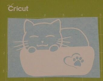 """Sleeping cat"" decal"