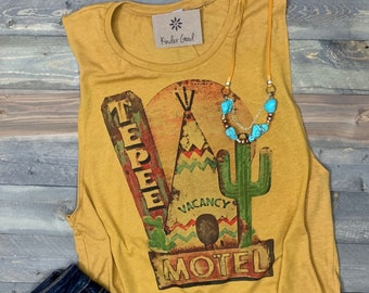 1a85ea49e650 Desert Teepee Motel Muscle Tank Top Sleeveless T-shirt