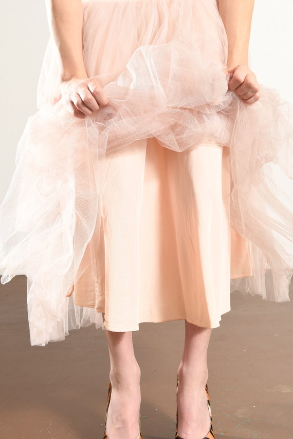 1960's Pink Prom Dress/ Vintage Tulle Prom Dress/… - image 10