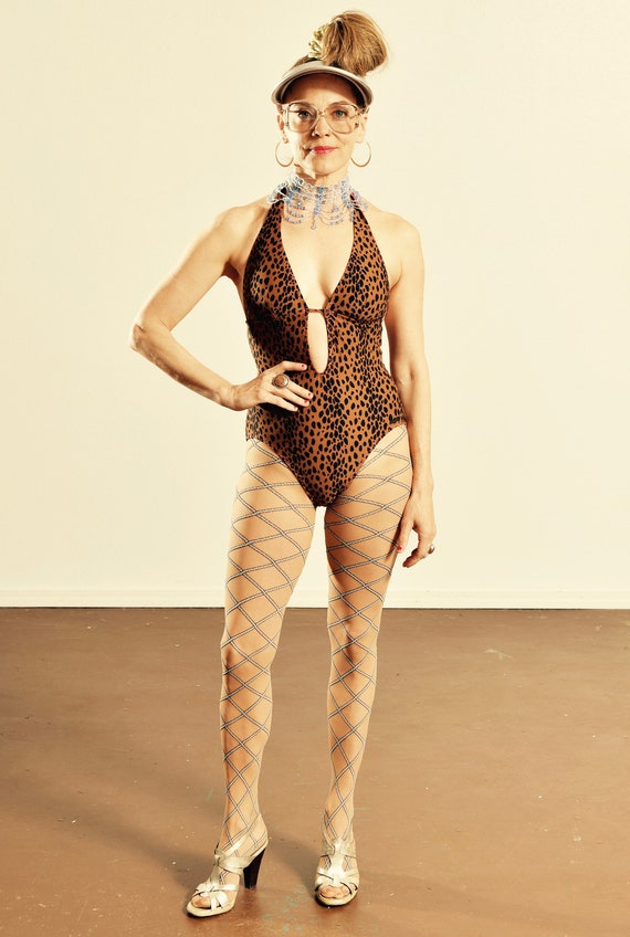 DKNY Leopard Print Bathing Suit/ Leopard Print Pin