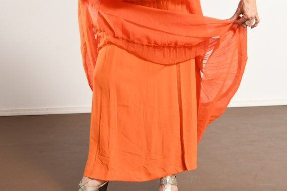 Carrie Couture/ Vintage Chiffon Prom Dress/ 70's … - image 9