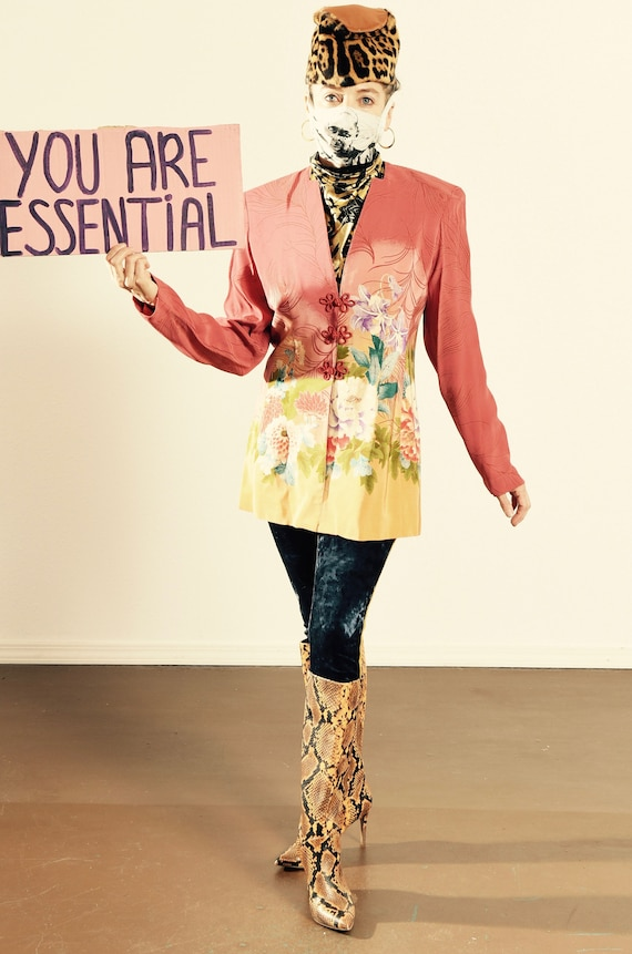 Dorothy Schoelen/ Platinum/ 90's Asian Blazer/ Asi