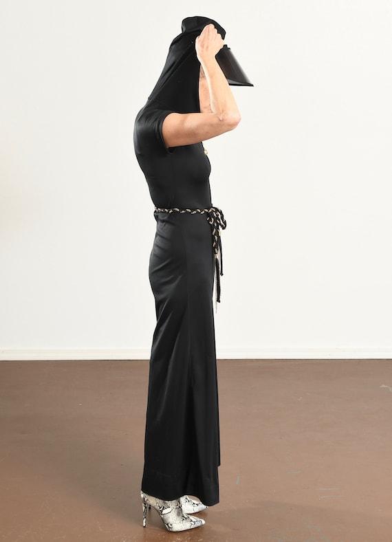 70's Disco Jumpsuit/ 70's Hooded Jumpsuit/ Black … - image 3