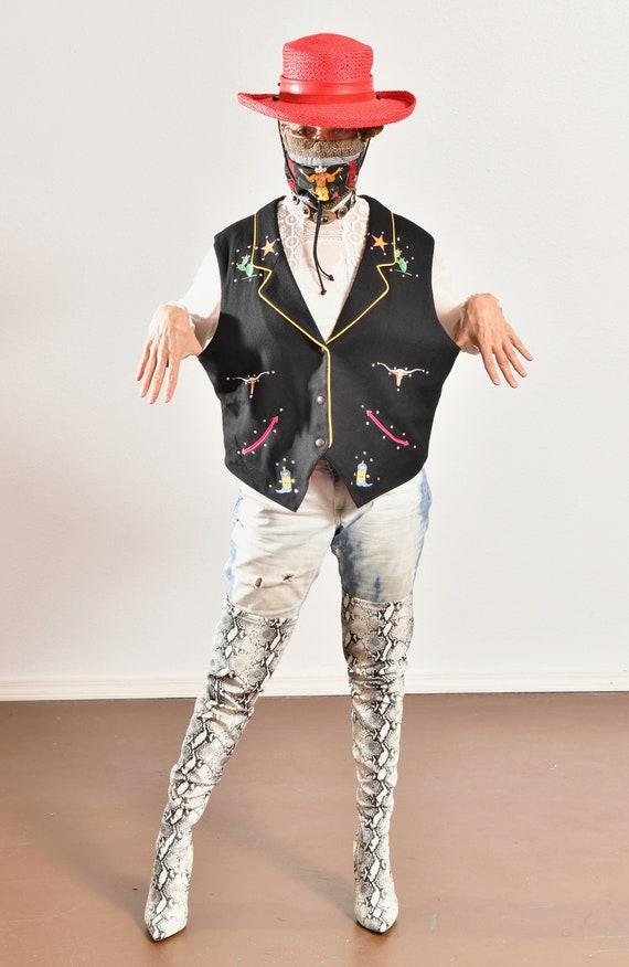 Gerard by Pege/ Wool Western Vest/ Wool Cowboy Ve… - image 6