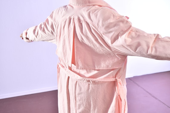 80's puffer coat/ Pink Puffer Coat/ Winter Trench… - image 7