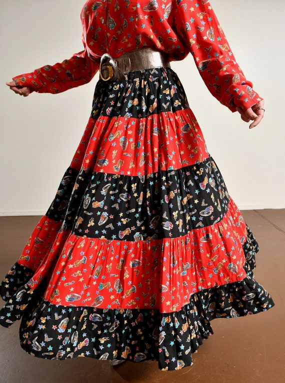 Country Western Two Piece Skirt Set/ Western Prai… - image 10