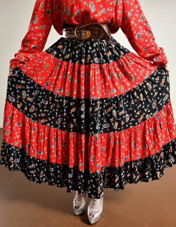 Country Western Two Piece Skirt Set/ Western Prai… - image 9