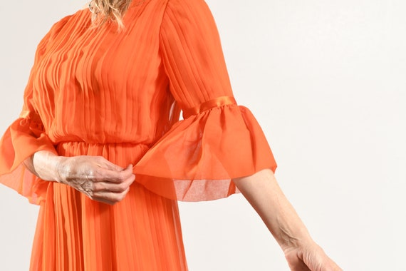 Carrie Couture/ Vintage Chiffon Prom Dress/ 70's … - image 7